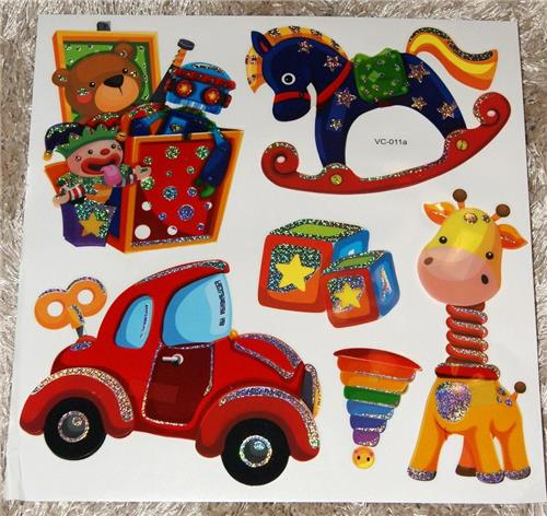 Nursery Childrens Girls Boys Kids Childs Bedroom Furniture Toy Box Wall Stickers