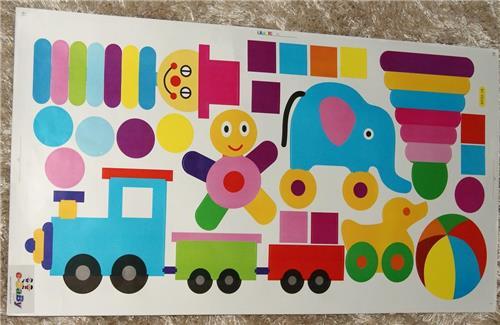 Boys Girls Kid Childrens Child Nursery Bedroom Toy Train Wall Furniture Stickers