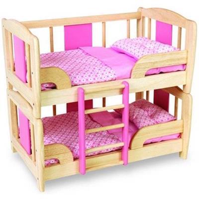 John gru in legno bambole letto a castello letto con letto - Letto a castello inglese ...
