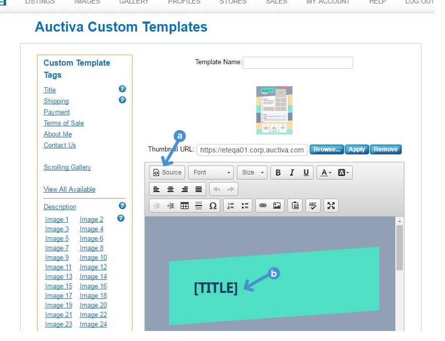 Figure 4 Edit Mode Options A Insertion Point In Template Editor B Click Picture To Enlarge
