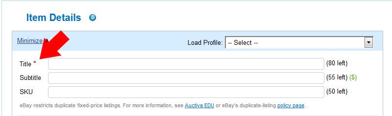 The Complete Lister Details Auctiva Tutorials