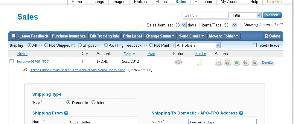 Setting Up Auctiva Integrated Shipping Labels - Auctiva