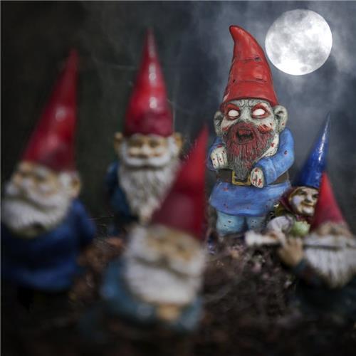 Zombie Gnome Terracotta Evil Garden Ornament Funny Horror