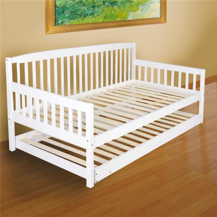 Wooden Sofa Bed Frame Day Bed Trundle Children Single Slat