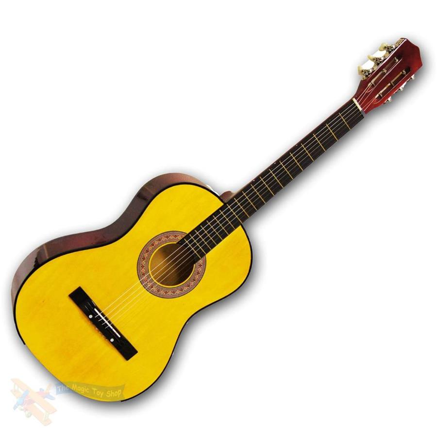 childrens childs kids wooden guitar acoustic classic musical instrument toy. Black Bedroom Furniture Sets. Home Design Ideas