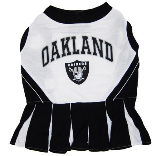 Dog Pet Oakland Raiders NFL Football Cheerleader Outfit Collar Leash Costume