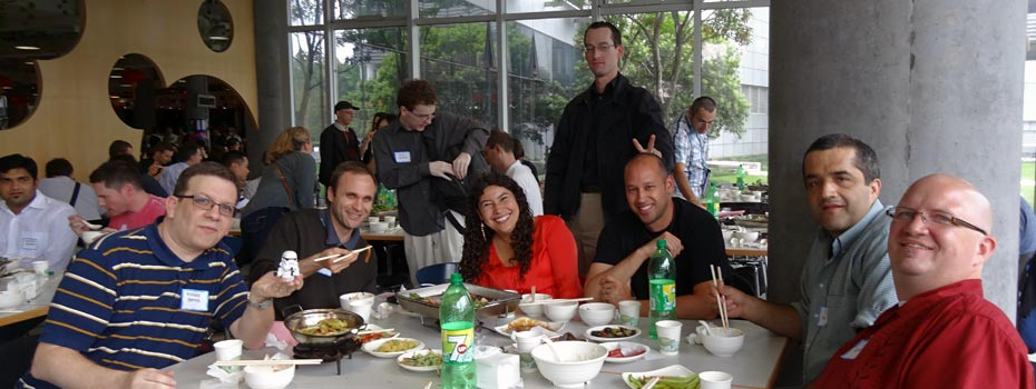 Auctivians enjoy the flavors of China.