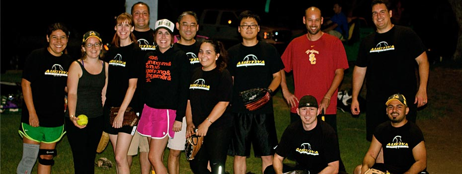 Auctiva softball has employees swinging for the fences.