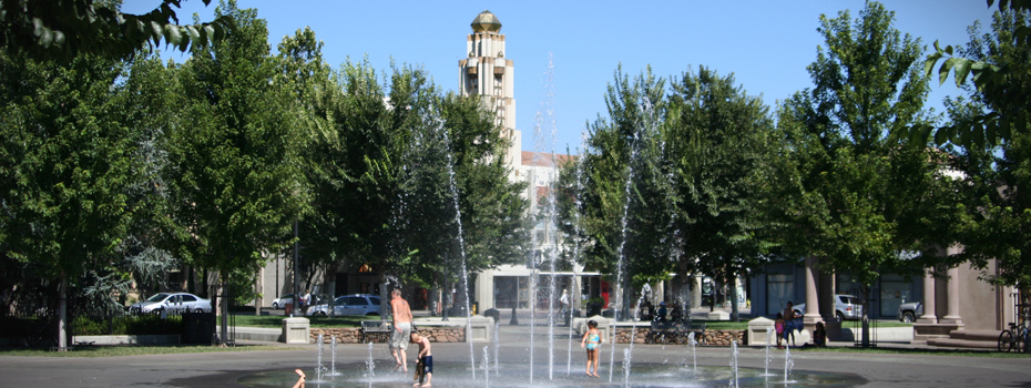 Downtown Chico - Fun in City Plaza